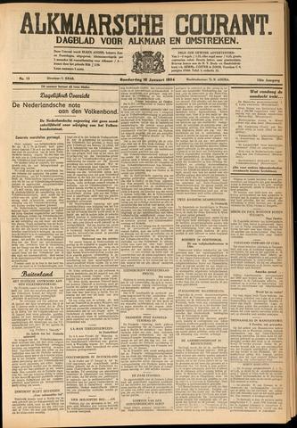 Alkmaarsche Courant 1934-01-18
