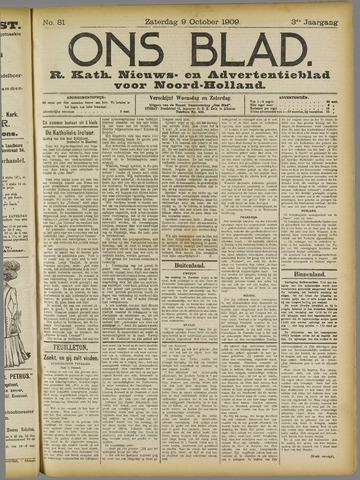 Ons Blad : katholiek nieuwsblad voor N-H 1909-10-09