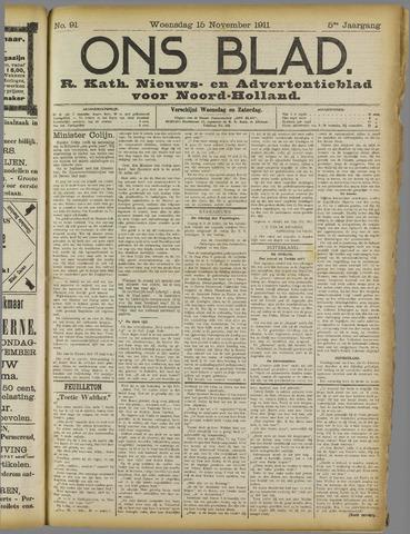 Ons Blad : katholiek nieuwsblad voor N-H 1911-11-15