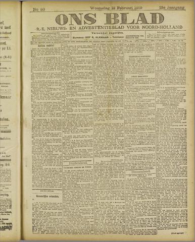 Ons Blad : katholiek nieuwsblad voor N-H 1919-02-12