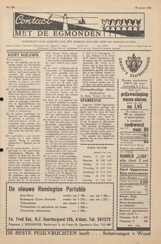 Contact met de Egmonden 1962-01-18