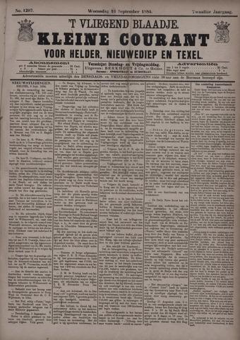 Vliegend blaadje : nieuws- en advertentiebode voor Den Helder 1884-09-10
