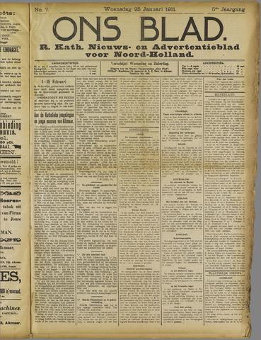 Ons Blad : katholiek nieuwsblad voor N-H 1911-01-25