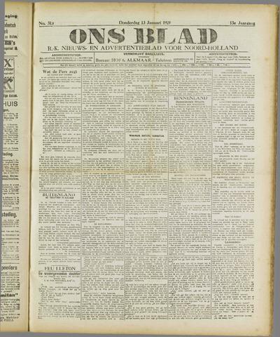 Ons Blad : katholiek nieuwsblad voor N-H 1921-01-13