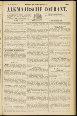 Alkmaarsche Courant 1899-09-10