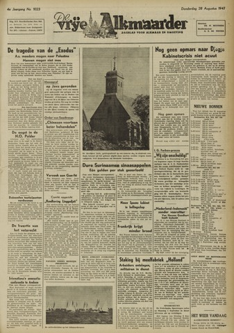 De Vrije Alkmaarder 1947-08-28