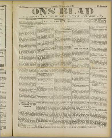 Ons Blad : katholiek nieuwsblad voor N-H 1920-11-15