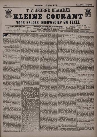Vliegend blaadje : nieuws- en advertentiebode voor Den Helder 1884-10-01