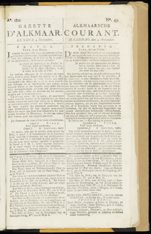 Alkmaarsche Courant 1811-11-04