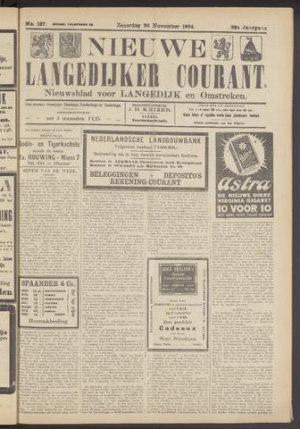 Nieuwe Langedijker Courant 1924-11-22