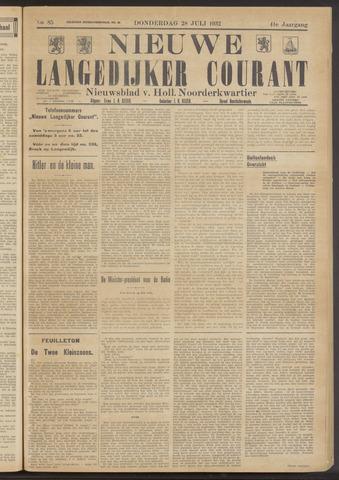 Nieuwe Langedijker Courant 1932-07-28