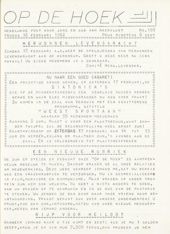 Op De Hoek, weekblad voor Akersloot 1962-02-16