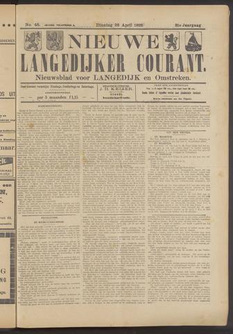 Nieuwe Langedijker Courant 1922-04-25