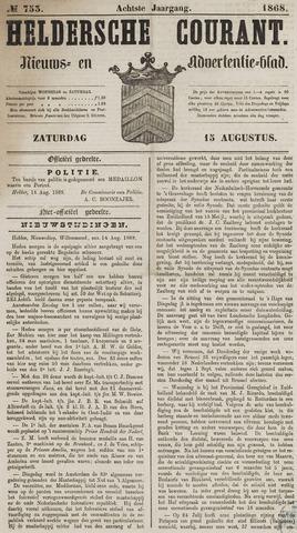 Heldersche Courant 1868-08-15