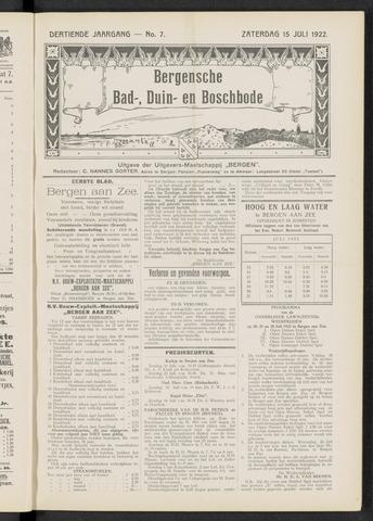 Bergensche bad-, duin- en boschbode 1922-07-15