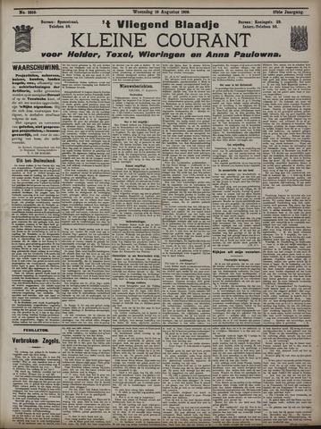 Vliegend blaadje : nieuws- en advertentiebode voor Den Helder 1909-08-18