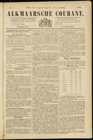 Alkmaarsche Courant 1889-01-01