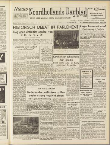 Nieuw Noordhollandsch Dagblad : voor Alkmaar en omgeving 1949-12-07