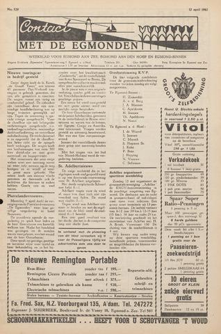 Contact met de Egmonden 1962-04-12
