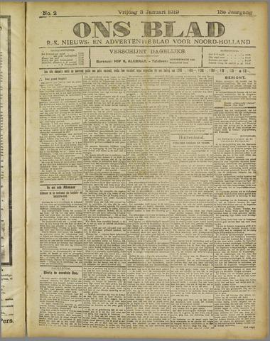 Ons Blad : katholiek nieuwsblad voor N-H 1919-01-03