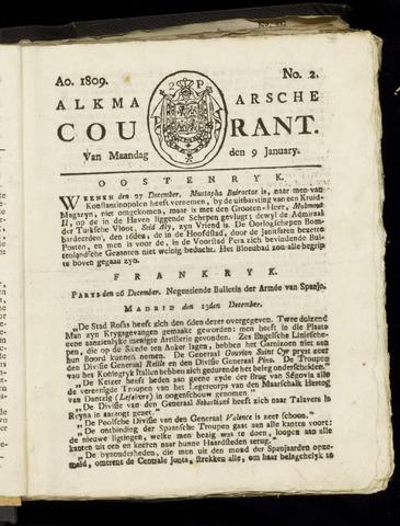 Alkmaarsche Courant 1809-01-09