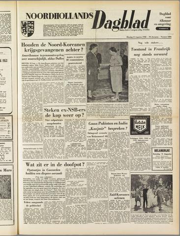 Noordhollands Dagblad : dagblad voor Alkmaar en omgeving 1953-08-11