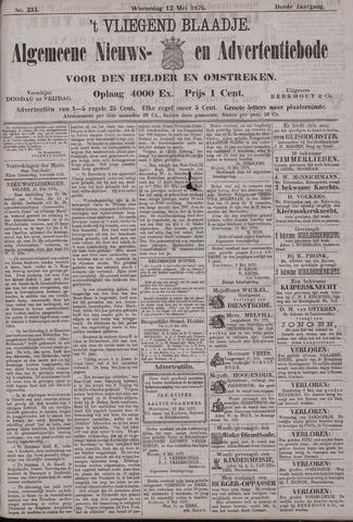 Vliegend blaadje : nieuws- en advertentiebode voor Den Helder 1875-05-12