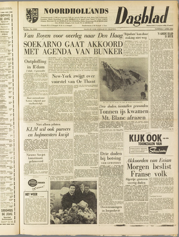 Noordhollands Dagblad : dagblad voor Alkmaar en omgeving 1962-04-07