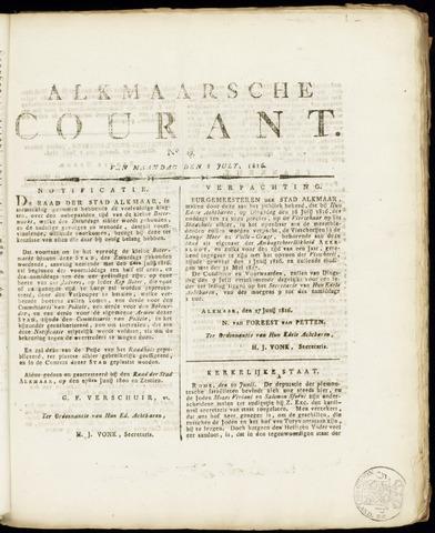 Alkmaarsche Courant 1816-07-08