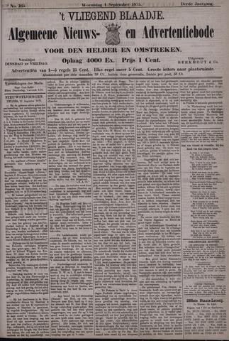 Vliegend blaadje : nieuws- en advertentiebode voor Den Helder 1875-09-01