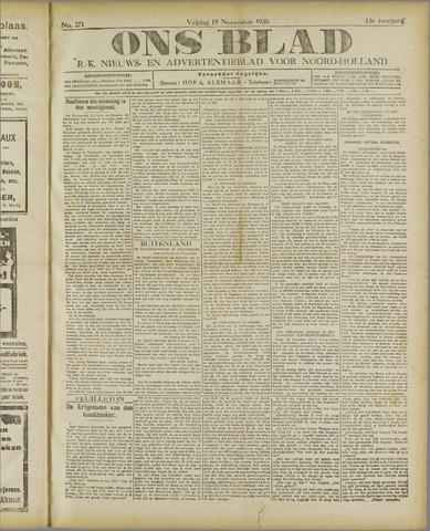Ons Blad : katholiek nieuwsblad voor N-H 1920-11-19