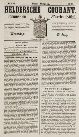 Heldersche Courant 1870-07-13