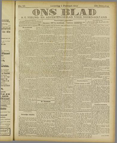 Ons Blad : katholiek nieuwsblad voor N-H 1919-02-01