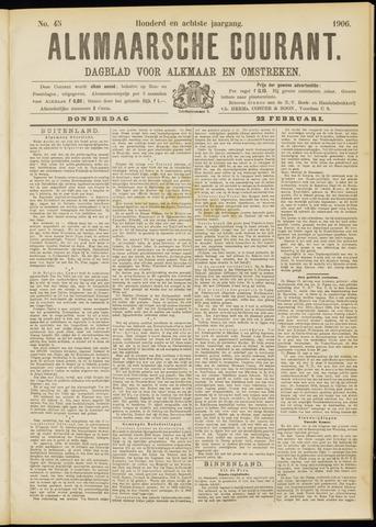 Alkmaarsche Courant 1906-02-22
