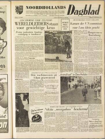 Noordhollands Dagblad : dagblad voor Alkmaar en omgeving 1959-09-11