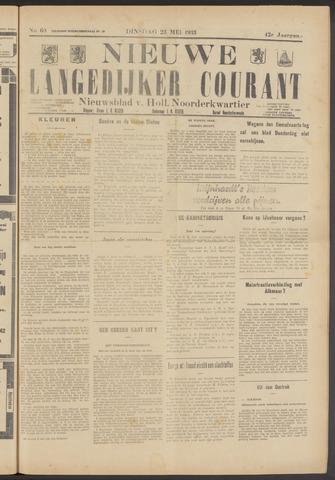 Nieuwe Langedijker Courant 1933-05-23