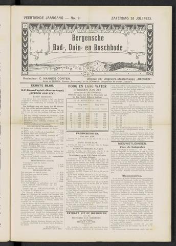 Bergensche bad-, duin- en boschbode 1923-07-28