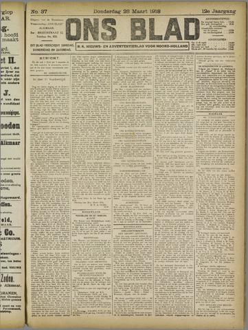 Ons Blad : katholiek nieuwsblad voor N-H 1918-03-28