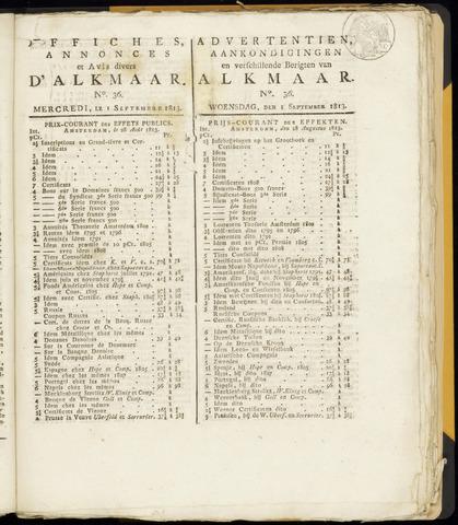 Alkmaarsche Courant 1813-09-01