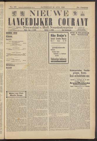 Nieuwe Langedijker Courant 1930-08-30