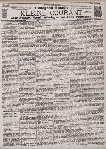 Vliegend blaadje : nieuws- en advertentiebode voor Den Helder 1912-04-10