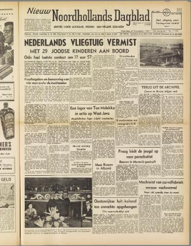 Nieuw Noordhollandsch Dagblad : voor Alkmaar en omgeving 1949-11-21