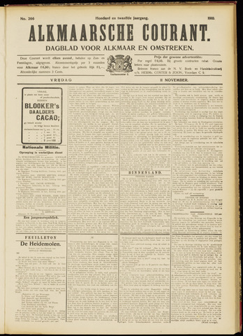 Alkmaarsche Courant 1910-11-11