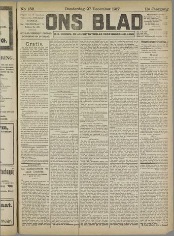 Ons Blad : katholiek nieuwsblad voor N-H 1917-12-27