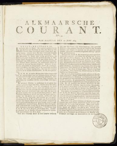 Alkmaarsche Courant 1814-06-20