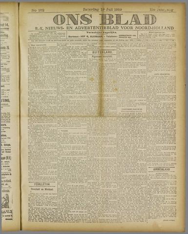 Ons Blad : katholiek nieuwsblad voor N-H 1919-07-19