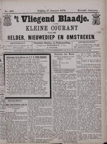 Vliegend blaadje : nieuws- en advertentiebode voor Den Helder 1879-01-17