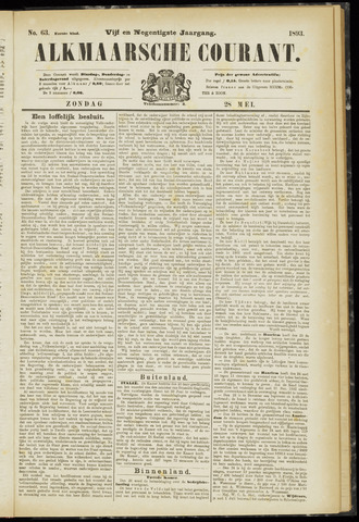 Alkmaarsche Courant 1893-05-28