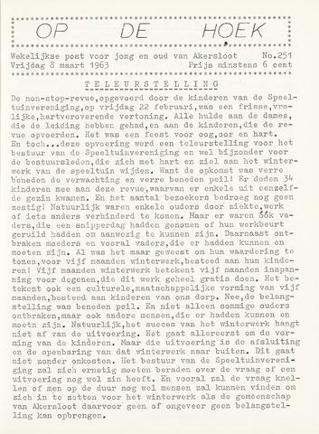Op De Hoek, weekblad voor Akersloot 1963-03-08