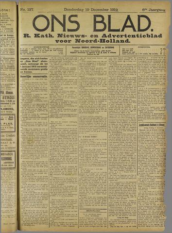 Ons Blad : katholiek nieuwsblad voor N-H 1912-12-19